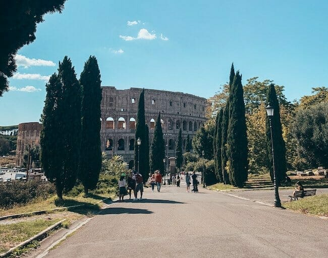 Colosseum in the sunshine for 3 day Rome itinerary
