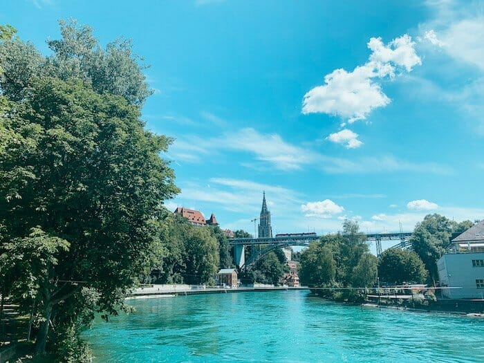 Aare River in Bern Switzerland: one of the best things if you have one day in Bern